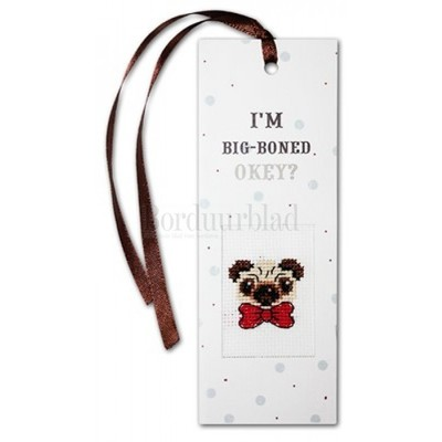 Borduurblad productfoto Boekenlegger I'm Big-Boned, okey