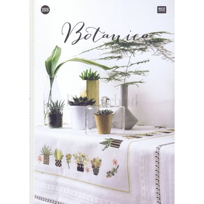 Borduurblad productfoto Rico Design Borduurboek Botanica nr.155 2