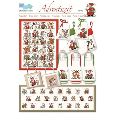 Borduurblad productfoto Lindner Kreuzstiche A3 leaflet - Adventszeit (082)