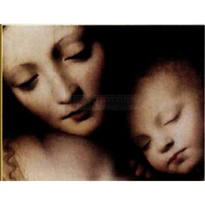 Borduurblad productfoto Madonna & Child-poster- patroon