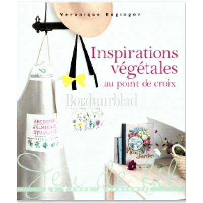 Borduurblad productfoto Inspirations végétales au point de croix-inspiratie uit de moestuin in kruissteek