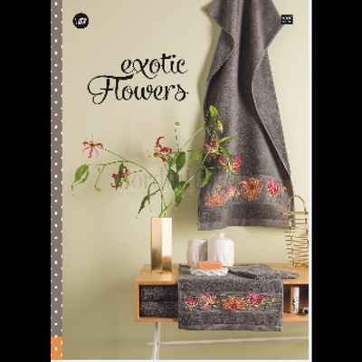 Borduurblad productfoto Rico Design borduurboek Exotic Flowers - nr. 157