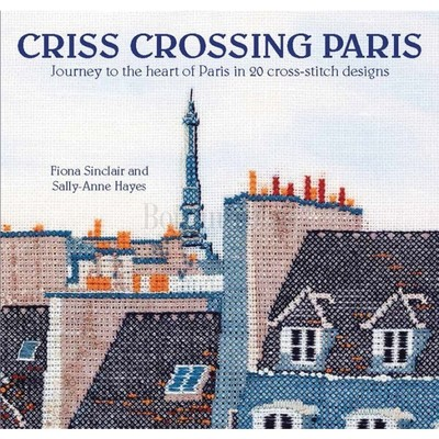Borduurblad productfoto Borduurboek Criss Crossing Paris