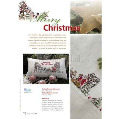 Borduurblad productfoto Patroon Merry Christmas