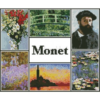 Borduurblad productfoto Monet Sampler- patroon