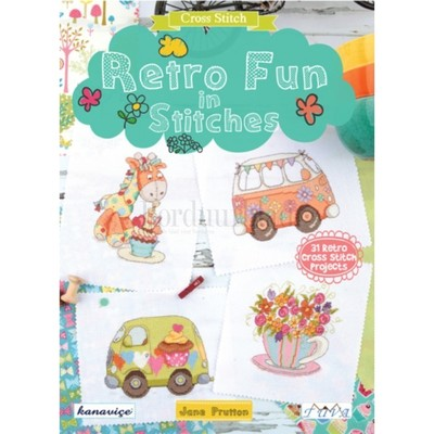 Borduurblad productfoto Borduurboek Retro Fun in Stitches