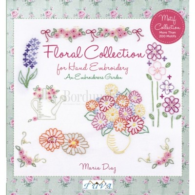 Borduurblad productfoto Borduurboek Floral Collection for Hand Embroidery. An Embroiderers Garden