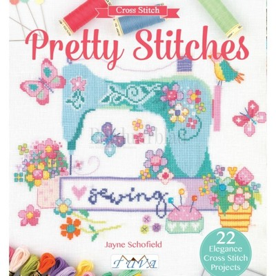 Borduurblad productfoto Borduurboek Pretty Stitches