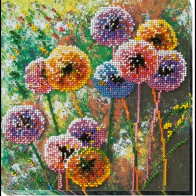 Borduurblad productfoto AbrisArt Bead Embroidery - Multi-colored balls