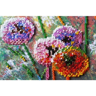 Borduurblad productfoto AbrisArt Bead Embroidery - Multi-colored balls 2