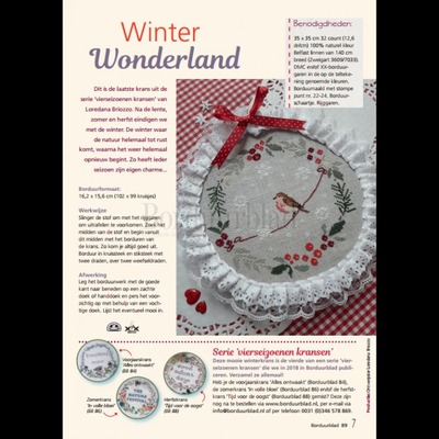 Borduurblad productfoto Patroon Winter Wonderland