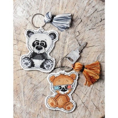 Borduurblad productfoto Cute Animals Nora & Boris - Patroon 2