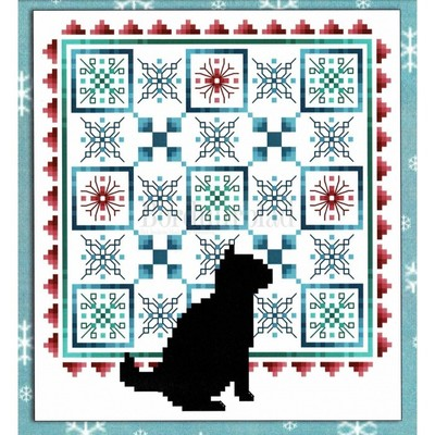 Borduurblad productfoto Cats & Quilts January- patroon
