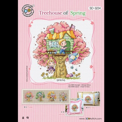 Borduurblad productfoto Borduurpatroon Treehouse of Spring