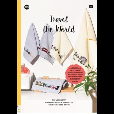 Borduurblad productfoto Borduurboek Travel the World (no.165)