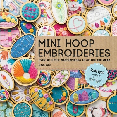 Borduurblad productfoto Borduurboek Mini Hoop Embroideries - Mini spanring borduurtjes