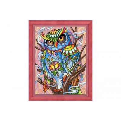 Borduurblad productfoto Diamond painting set Arti Balta - Owl