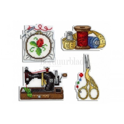 Borduurblad productfoto Borduurpakket MP STUDIA Magneetset 'Needleworker'