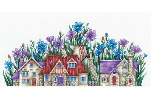 Borduurblad productfoto Borduurpakket Andriana 'Country of Cornflowers'