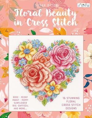 Borduurblad productfoto Boek Floral Beauty in Cross Stitch