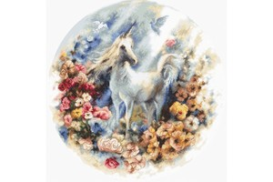 Borduurblad productfoto Borduurpakket Leti Stitch 'Unicorn'