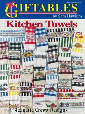 Borduurblad productfoto Patroonboekje Jeanette Crews Designs 'Kitchen Towels'