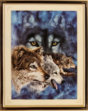 Borduurblad productfoto Patroon XX 'Wild Nature – The Wolves'