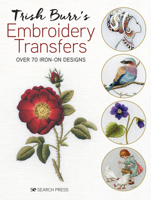 Borduurblad productfoto Boek 'Trish Burr's Embroidery Transfers'