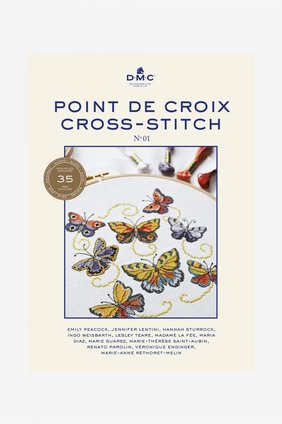 Borduurblad productfoto Boek DMC Point de Croix / Cross-Stitch No. 01