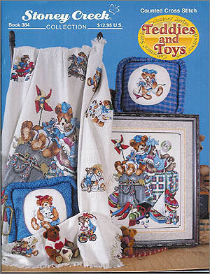 Borduurblad productfoto Patroonboekje Stoney Creek 'Teddies and Toys'