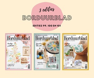 Borduurblad productfoto Borduurblad Winterdeal