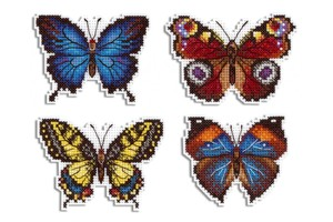 Borduurblad productfoto Borduurpakket MP Studia Magneetset 'Bright Butterflies'