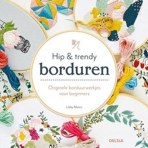 Borduurblad productfoto Boek - Hip & trendy borduren