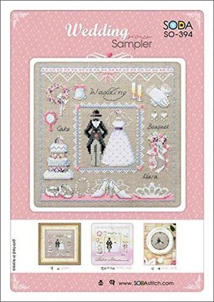 Borduurblad productfoto Soda stitch patroon Wedding Sampler