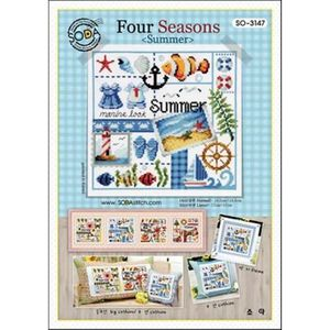 Borduurblad productfoto Soda Stitch patroon Four Seasons Summer