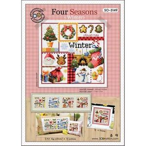 Borduurblad productfoto Soda Stitch patroon Four Seasons Winter