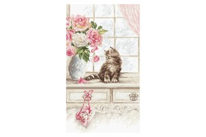Borduurblad productfoto Borduurpakket Leti Stitch 'Kitten' 2