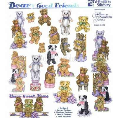 Borduurblad productfoto Patroon Counted Cross Stitch 'Beary Good Friends'