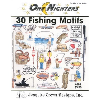 Borduurblad productfoto One Nighters '30 Fishing Motifs' 2